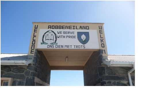 Afrikaans text at Robben Island